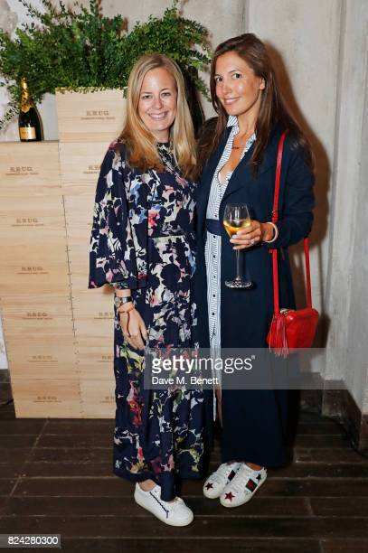Astrid Harbord and Amanda Sheppard attend Krug Festival Into The Wild at The Grange Hampshire on July 29 2017 in Northington United Kingdom