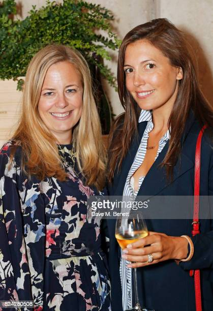 Astrid Harbord and Amanda Sheppard attend Krug Festival 'Into The Wild' at The Grange Hampshire on July 29 2017 in Northington United Kingdom