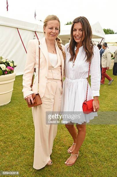 Astrid Harbord and Amanda Sheppard attend The Cartier Queen's Cup Final at Guards Polo Club on June 11 2016 in Egham England