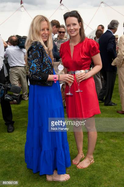 Astrid Harbord and Arabella Musgrave at the Cartier tent during the Cartier Internaional Polo Day at Guards Polo Club on July 26 2009 in Egham England