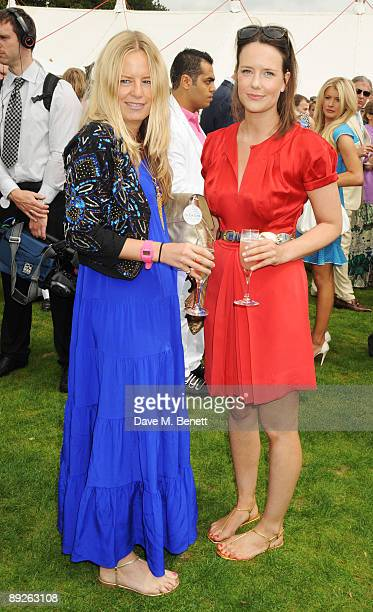 Astrid Harbord and Arabella Musgrave attend the annual Cartier International Polo Day at the Cartier Marquee in Great Windsor Park at Guards Polo...