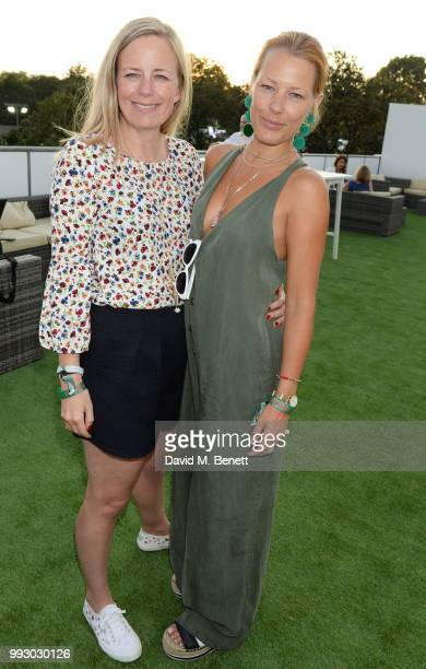 Astrid Harbord and Davina Harbord attend the London launch of intothewhite Darren Strowger's ambitious new tech platform raising money for Teenage...