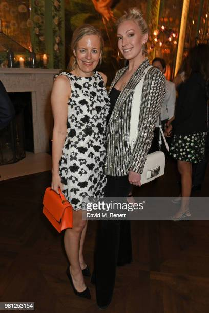 Astrid Harbord and Olivia Buckingham attend the Annabel's x Dior dinner on May 21 2018 in London England