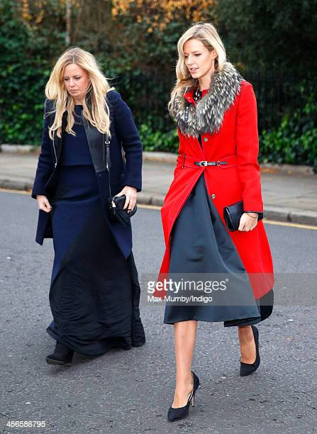 Astrid Harbord and Olivia Hunt attend the wedding of Jake Warren and Zoe Stewart in the Wren Chapel at the Royal Hospital Chelsea on December 14 2013...