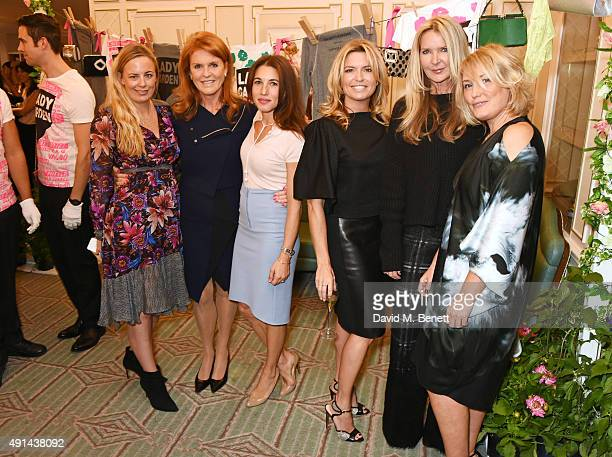 Astrid Harbord Sarah Ferguson Duchess of York Lauren Kemp Tina Hobley Amanda Wakeley and Mika Simmons attend the annual ladies' lunch in support of...