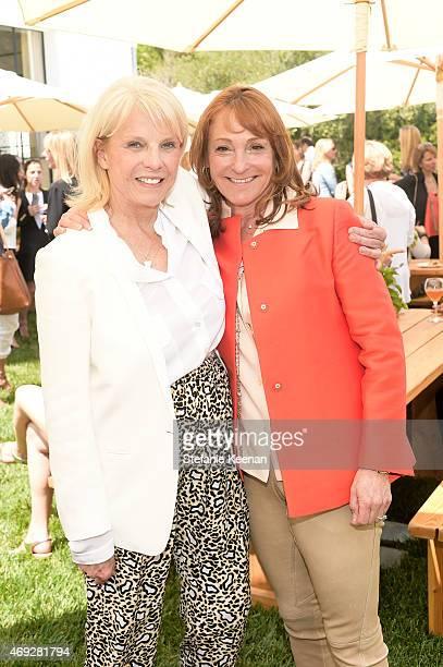 Astrid Heger and Linda Bernstein Rubin attend HEART Brunch featuring Stella McCartney on April 10 2015 in Los Angeles California