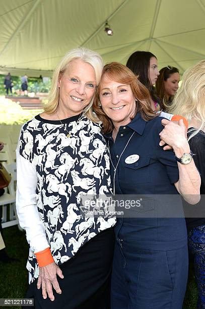 Astrid Heppenstall Heger and Linda Bernstein Rubin attend Annual HEART Brunch Featuring Stella McCartney on April 14 2016 in Los Angeles California
