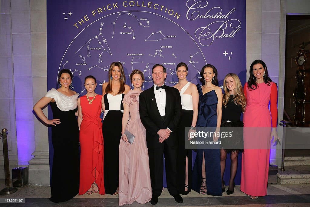 Astrid Hill Dattilo, Rickie De Sole Webster, Sloan Overstrom, Clare McKeon, Dr Ian Wardropper, Joann Pailey, Olivia Chatecaille, Maggy Francis Schultz and Lydia Fenet attend the Young Fellows Celestial Ball presented by PAULE KA at The Frick Collection on March 13, 2014 in New York City.