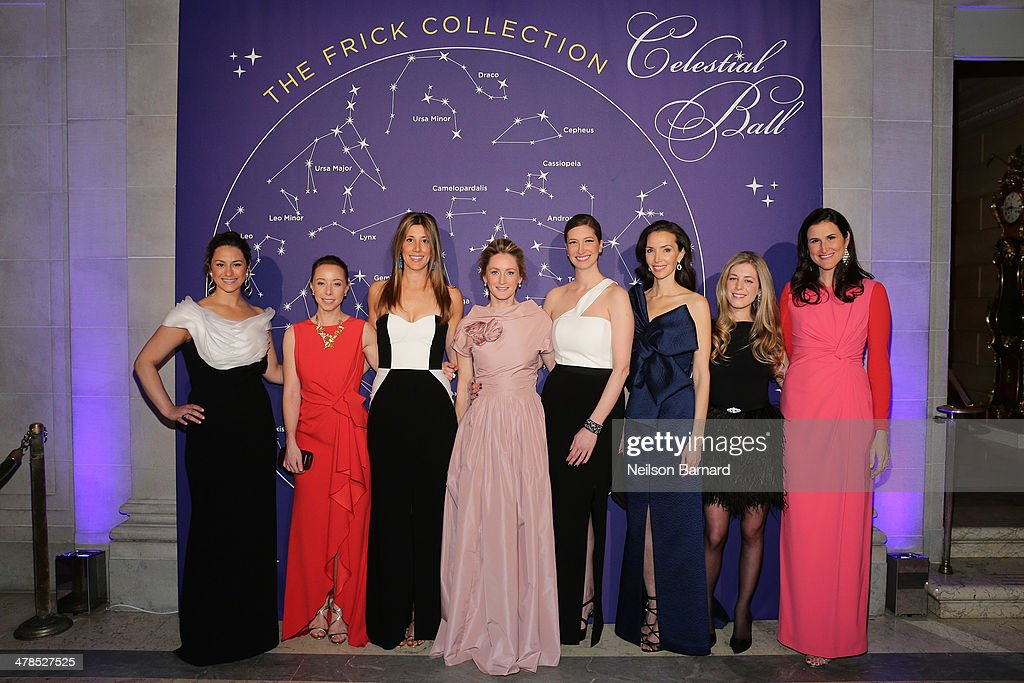 Astrid Hill Dattilo, Rickie De Sole Webster, Sloan Overstrom, Clare McKeon, Joann Pailey, Olivia Chatecaille, Maggy Francis Schultz and Lydia Fenet attend the Young Fellows Celestial Ball presented by PAULE KA at The Frick Collection on March 13, 2014 in New York City.