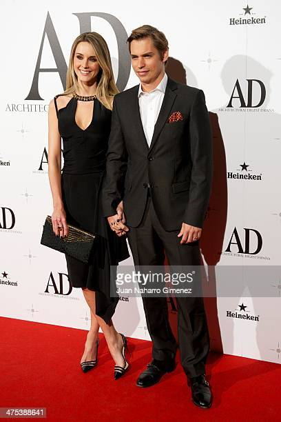 Astrid Klisans and Carlos Baute attend the AD Awards 2014 at the Santa Coloma Palace on February 27 2014 in Madrid Spain