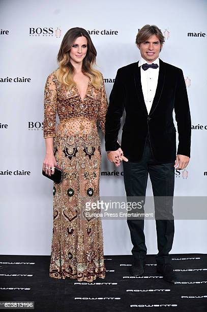 Astrid Klisans and Carlos Baute attend the XIV Marie Claire Prix de la Moda Awards at Florida Retiro on November 16 2016 in Madrid Spain
