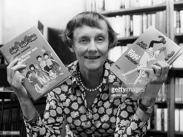 Astrid Lindgren Schriftstellerin Kinderbuchautorin Schweden mit ihren Büchern `Die Kinder aus Bullerbü' und `Pippi Langstrumpf' 1972
