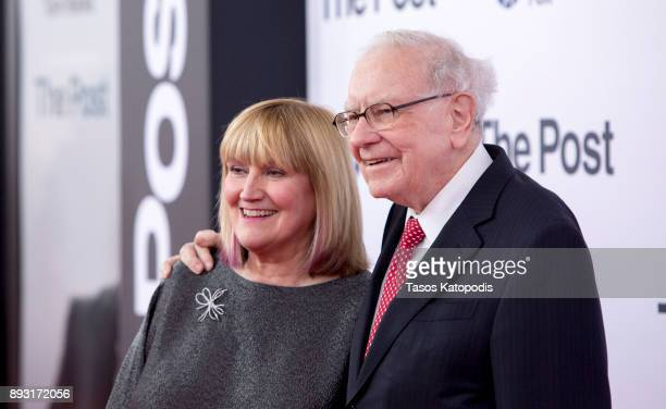 Astrid Menks and Warren Buffet attends the 'The Post' Washington DC Premiere at The Newseum on December 14 2017 in Washington DC
