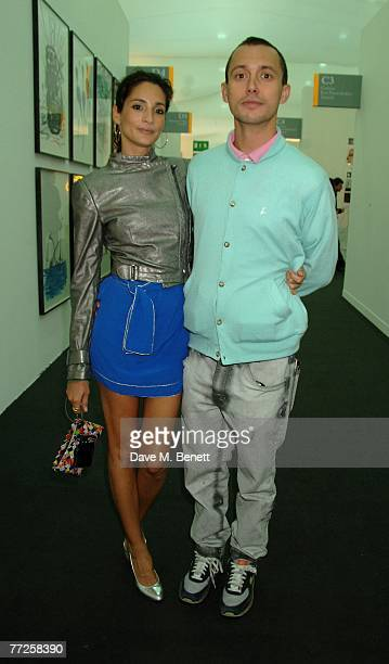 Astrid Munoz and Dan Macmillan attend the preview of the Frieze Art Fair 2007 at Regent's Park on October 10 2007 in London England