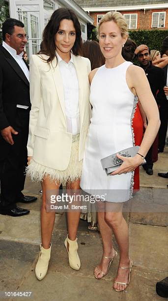 Astrid Munoz and Sydney IngleFinch attend the Raisa Gorbachev Foundation Party at Stud House Hampton Court Palace on June 5 2010 in Richmond upon...