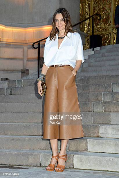 Astrid Munoz arrives at the The Glory of Water' Karl Lagerfeld's exhibition at Fendi Store After Party Outside Arrivals At the Petit Palais on July 3...