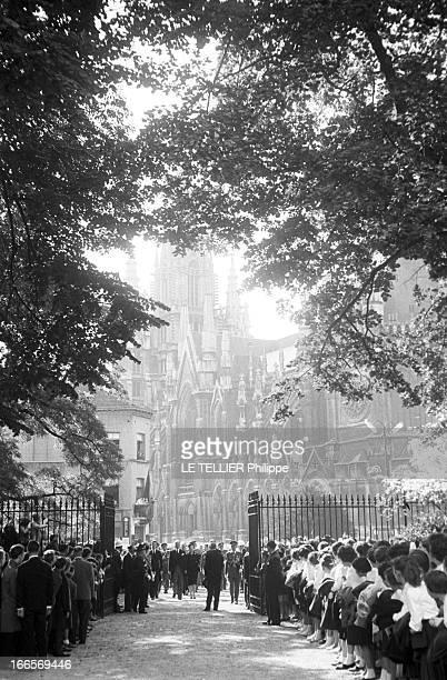 Astrid Of Belgium Laeken 26 septembre 1960 messe de commémoration de la mort d'Astrid mère du roi Baudouin décédée en août 1935 dans un accident de...