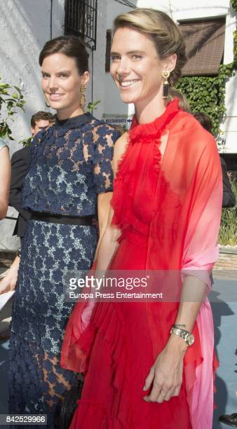 Astrid of Liechtenstein and Anunciata of Liechtenstein are seen attending the wedding of MarieGabrielle of Nassau and Antonius Willms on September 2...