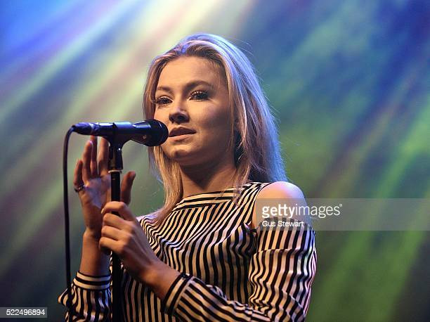 Astrid S performs on stage at The Forum on April 19 2016 in London England