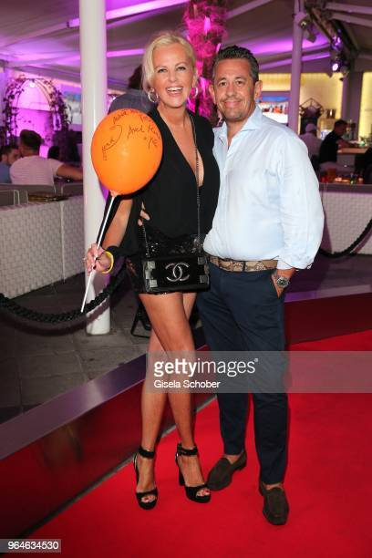 Astrid Soell dirndl fashion designer and her husband Volker Woehrle during the surprise party for the worldwide comeback of Ralph Siegels band...
