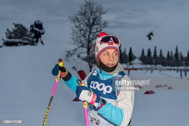 Astrid Uhrenholdt Jacobsen of Norway during training at Beitostoelen Ski Stadion on December 7 2018 in Beitostoelen Norway