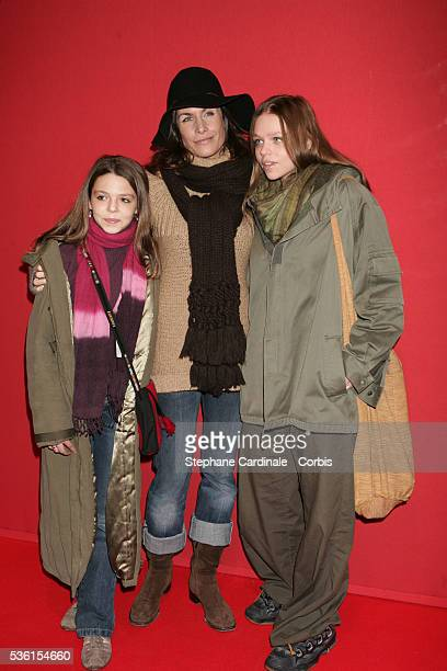 Astrid Veillon and her goddaughters attend the Moscow Circus on Ice gala for 'Clowns Sans Frontieres'