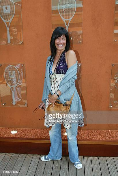 Astrid Veillon arrives in the 'Village' the VIP area of the French Open at Roland Garros arena in Paris France on May 31 2007