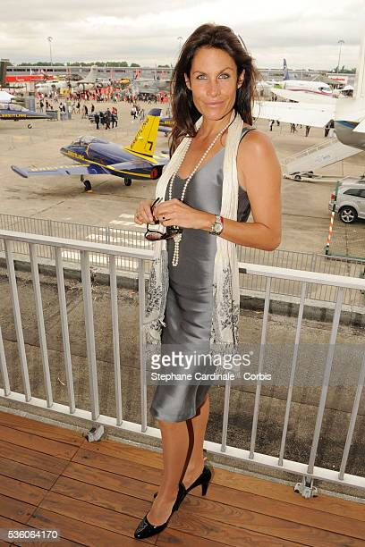 Astrid Veillon attends the Breitling lunch during the 48th Paris Air Show held at Paris Le Bourget