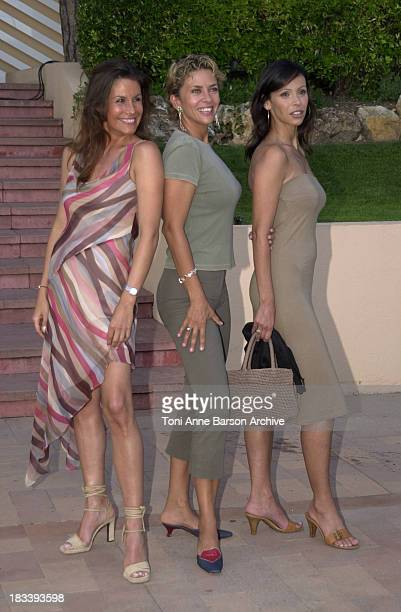 Astrid Veillon Corinne Touzet Mathilda May during Monte Carlo Television Festival 2002 Independence Day Party at MonteCarlo Beach Hotel in MonteCarlo...