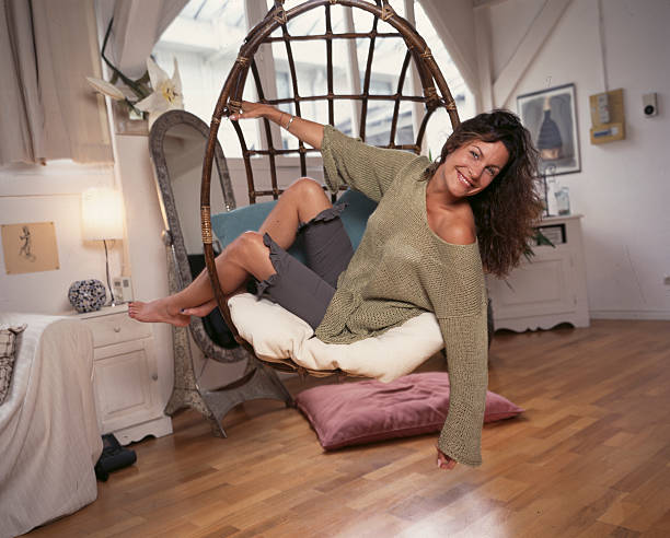 astrid veillon in her loft in paris pictures getty images. Black Bedroom Furniture Sets. Home Design Ideas