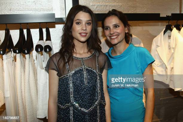 AstridBergesFrisbey and Virginie Ledoyen attend the Chanel Boutique Inauguration as part of Paris Fashion Week on March 6 2012 in Paris France