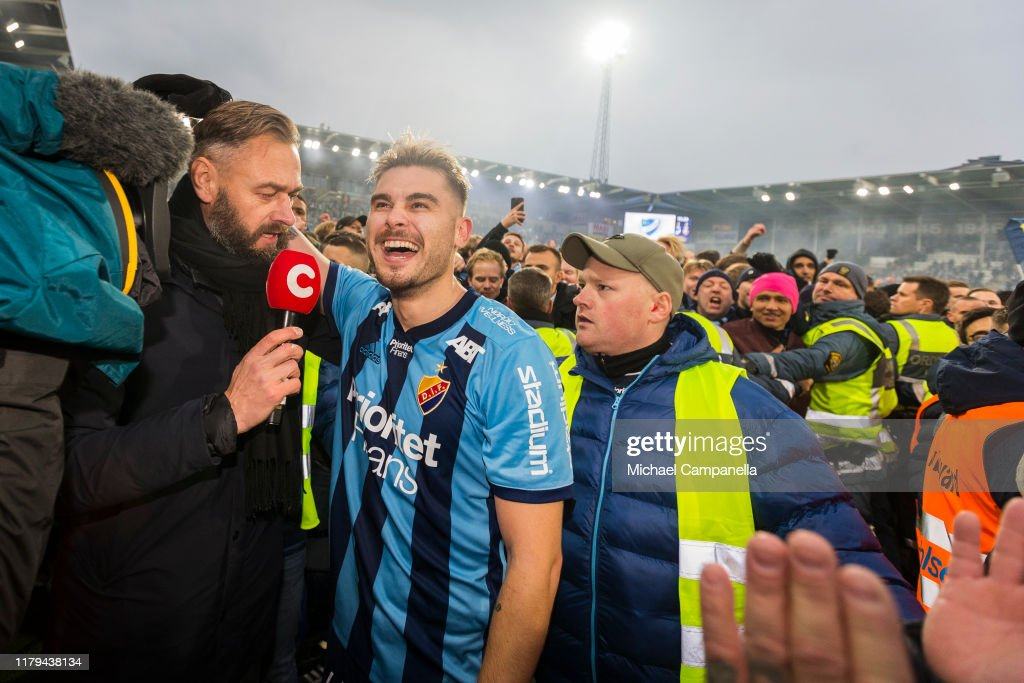 Astrit Ajdarevic Of Djurgardens If Is Interviewed By C More News Photo Getty Images