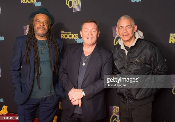 Astro, Ali Campbell, and Michael Virtue of UB40 is pictured at BBC Children in Need Rocks the 80s at SSE Arena on October 19, 2017 in London, England.