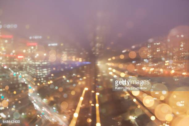 Astro Projection. Dazzling Lights of City Dimensions