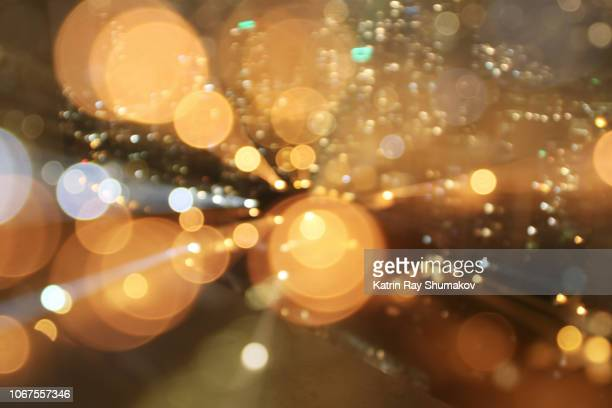 astro projection. golden dimensions of night cityscapes - zoom in stock pictures, royalty-free photos & images