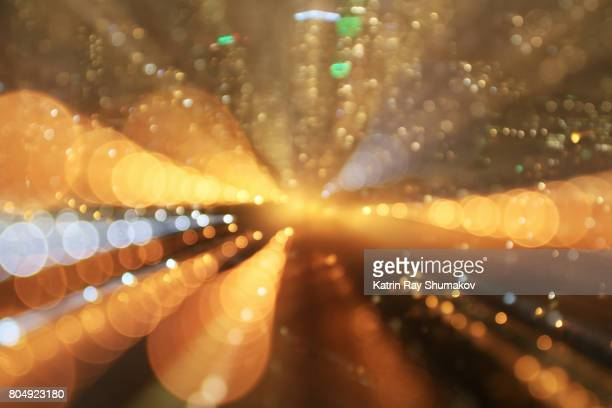 Astro Projection. Golden Dimensions of Night Cityscapes