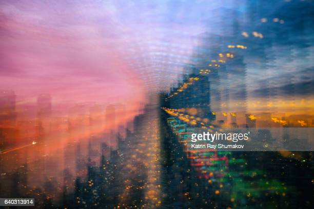Astro Projection. Rainbow Dimensions on Cityscapes of Virtual Reality