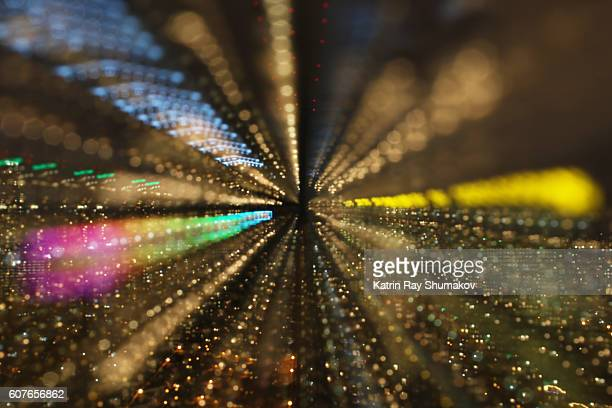 Astro Projection. Rainbow Path into Golden City Dimensions