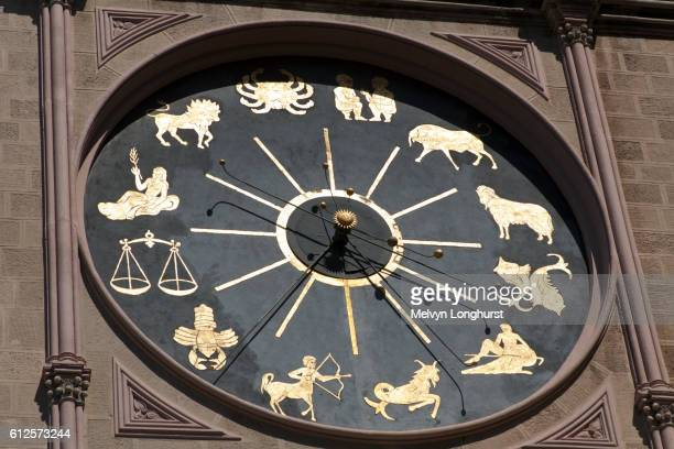 Astrological clock, part of astronomical clock, Messina Cathedral, Piazza Del Duomo, Messina, Sicily