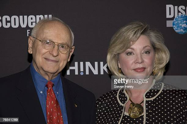 Astronaut Alan Bean and Leslie Bean attend the premiere of 'In The Shadow Of The Moon' on September 5 2007 at the Musuem of Natural History in New...
