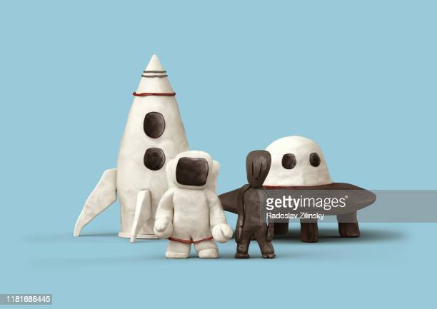 astronaut and other characters - animation stock pictures, royalty-free photos & images