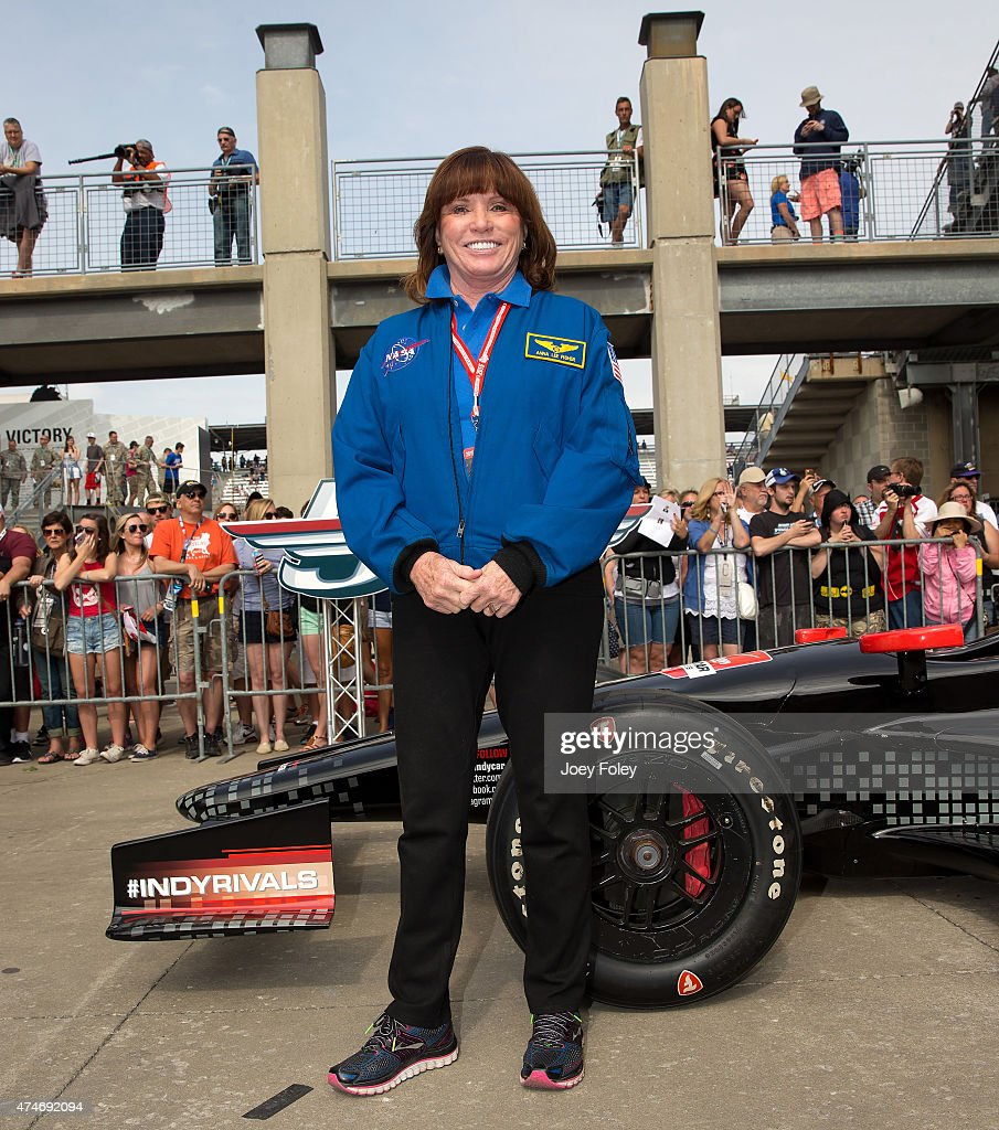 Astronaut Anna Fisher attends the 2015 Indy 500 at Indianapolis Motorspeedway on May 24, 2015 in Indianapolis, Indiana.