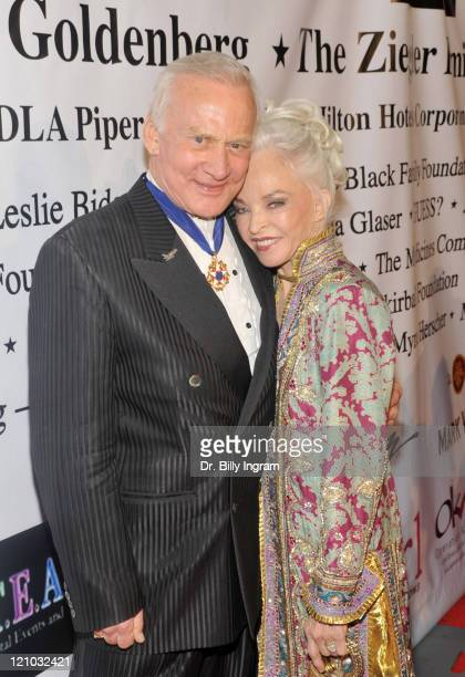 Astronaut Buzz Aldrin and his wife Lois Driggs Cannon arrive at the 10th Annual Children Uniting Nations Academy Awards Gala at The Beverly Hilton...
