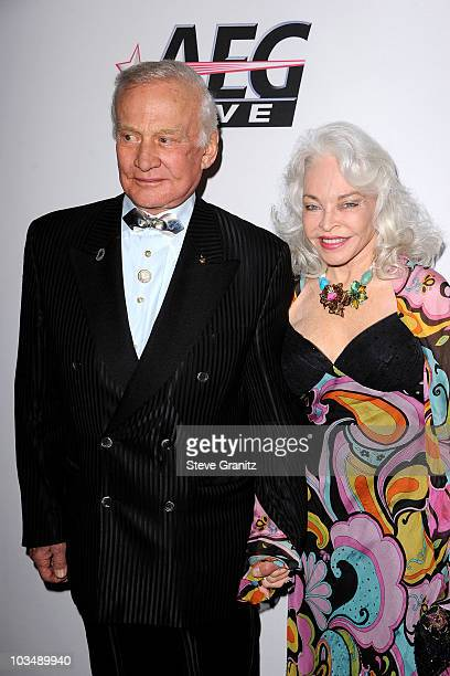Astronaut Buzz Aldrin and Lois Aldrin arrive at the 52nd Annual GRAMMY Awards Salute To Icons Honoring Doug Morris held at The Beverly Hilton Hotel...