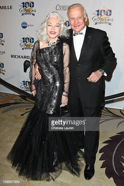 Astronaut Buzz Aldrin and wife Lois Aldrin arrive at the 21st Annual Night of 100 Stars Awards Gala at Beverly Hills Hotel on February 27, 2011 in...