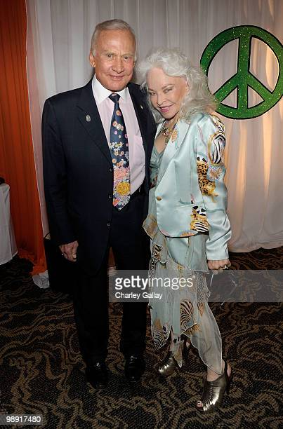 Astronaut Buzz Aldrin and wife Lois Aldrin attend 17th Annual Race to Erase MS event cocktail reception cochaired by Nancy Davis and Tommy Hilfiger...