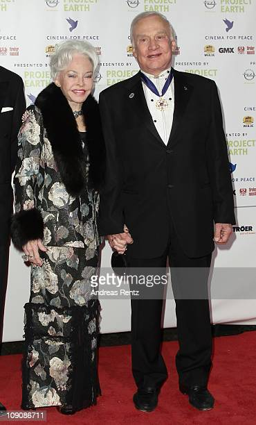 Astronaut Buzz Aldrin and wife Lois Aldrin attend the Cinema for Peace Gala at the Konzerthaus Am Gendarmenmarkt during day five of the 61st Berlin...
