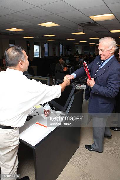 Astronaut Buzz Aldrin attends the 6th Annual BGC Charity Day at BGC Partners INC on September 13 2010 in New York City