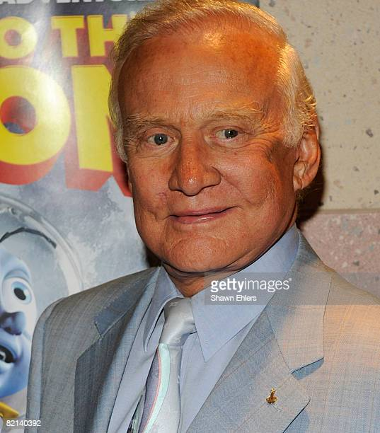 Astronaut Buzz Aldrin attends the screening of Fly Me to the Moon at the Regal Union Square on July 31 2008 in New York City