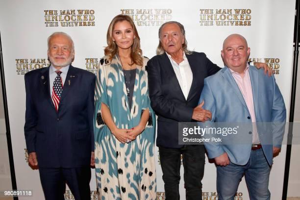 Astronaut Buzz Aldrin executive producer Lola Tillyaeva Armand Assante and director Bakhodir Yuldashev at the premiere of THE MAN WHO UNLOCKED THE...